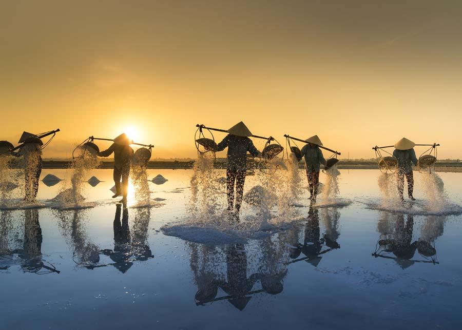 Vietnam Salt Worker Travel Photo